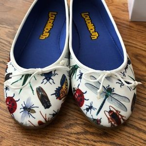Loudmouth ballet flats with insect print